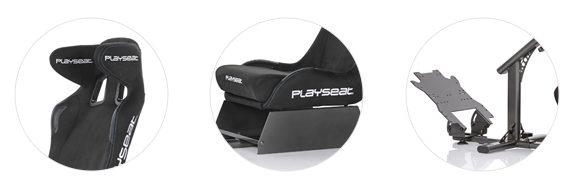 Playseat Evolution Alcantara PRO fejtámla, ülőrész és pedáltartó