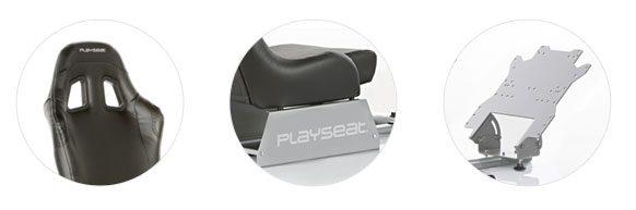Playseat Evolution Black (fekete) háttámla, ülés és pedáltartó