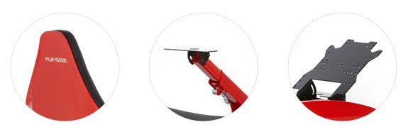 Playseat F1 Red (piros) fejtámla, kormány és pedáltartó