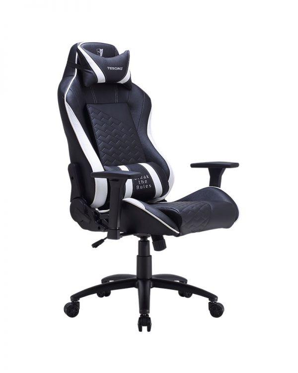 Tesoro Zone Balance (fekete fehér csíkkal) gamer szék