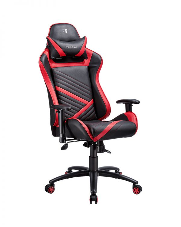 Tesoro Zone Speed (fekete piros csíkkal) gamer szék