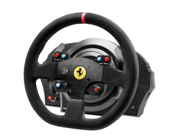 Thrustmaster T300 Ferrari Integral Racing Wheel Alcantara Edition szemből