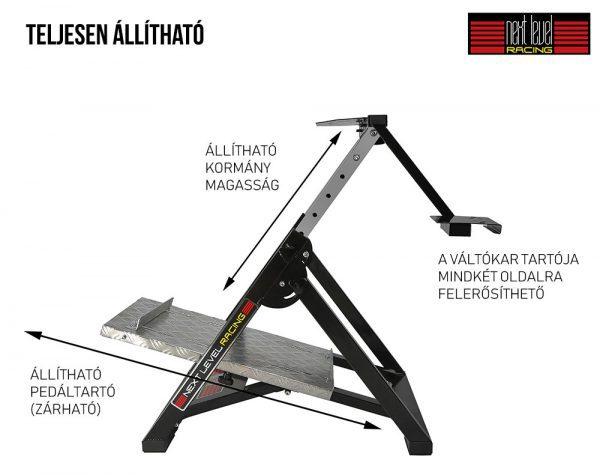 Next Level Racing Racing Wheel Stand - szimulátor állvány állíthatósága