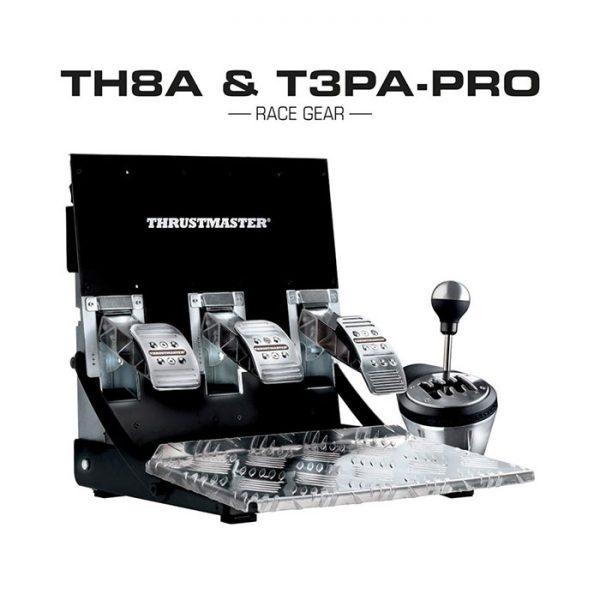 Thrustmaster TH8A & T3PA Pro Race Gear pedálsor és váltó szett